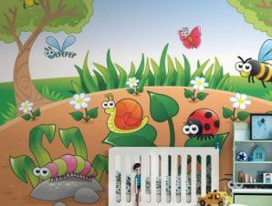 Έντομα στο δάσος Παιδικά Ταπετσαρίες Τοίχου 88 x 115 cm