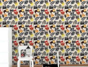 Ομοιογενές κινηματογραφικό μοτίβο Παιδικά Ταπετσαρίες Τοίχου 100 x 100 cm