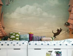Γατούλα Παιδικά Ταπετσαρίες Τοίχου 99 x 100 cm