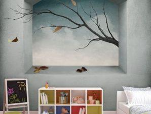 Παράθυρο Παιδικά Ταπετσαρίες Τοίχου 117 x 90 cm