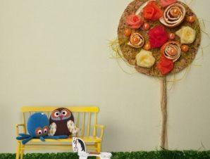 Χειροποίητο λουλούδι Παιδικά Ταπετσαρίες Τοίχου 95 x 105 cm