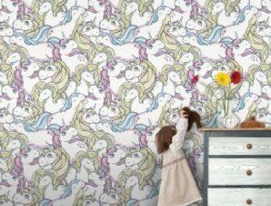 Μικρό Πόνυ Παιδικά Ταπετσαρίες Τοίχου 100 x 100 cm