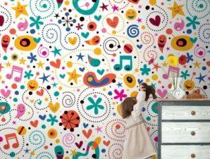 Καρτούν Παιδικά Ταπετσαρίες Τοίχου 100 x 100 cm
