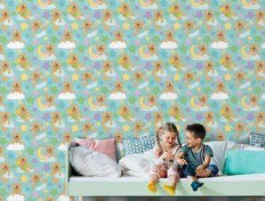 Αρκουδάκια Παιδικά Ταπετσαρίες Τοίχου 100 x 100 cm