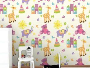 Ζωάκια Παιδικά Ταπετσαρίες Τοίχου 96 x 100 cm