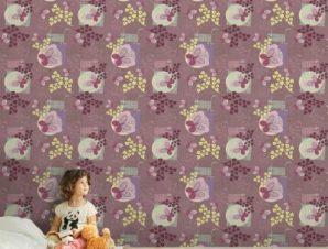 Λουλουδένιο μοτίβο Παιδικά Ταπετσαρίες Τοίχου 100 x 100 cm