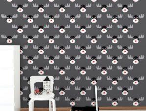 Τάρανδος Παιδικά Ταπετσαρίες Τοίχου 100 x 100 cm