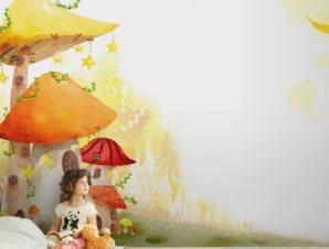 Μανιταρόσπιτα Παιδικά Ταπετσαρίες Τοίχου 86 x 115 cm