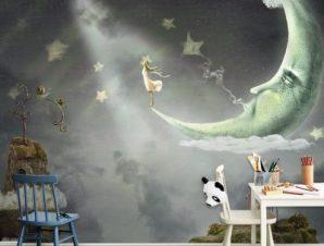 Ώρα θαυμάτων και μαγείας Παιδικά Ταπετσαρίες Τοίχου 100 x 100 cm