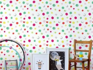 Polka dots, Winnie the Pooh Παιδικά Ταπετσαρίες Τοίχου 100 x 100 cm