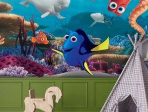 Dory, Bailey, Hank, Nemo! Finding Dory Παιδικά Ταπετσαρίες Τοίχου 82 x 121 cm