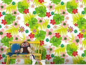 Jungle, Minnie Mouse! Παιδικά Ταπετσαρίες Τοίχου 100 x 100 cm