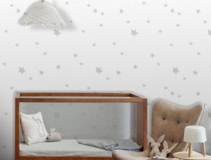 Μοτίβο με αστέρια, Mickey Mouse! Παιδικά Ταπετσαρίες Τοίχου 100 x 100 cm