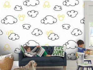 Σκίτσο από σύννεφα, Μίκυ Μάους! Παιδικά Ταπετσαρίες Τοίχου 100 x 100 cm