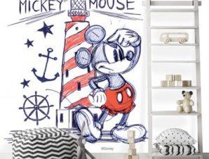 Ο Mickey Mouse δίπλα στον φάρο! Παιδικά Ταπετσαρίες Τοίχου 100 x 100 cm