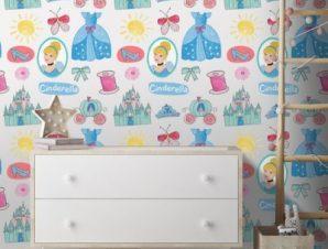 Clothes of Cinderella! Παιδικά Ταπετσαρίες Τοίχου 100 x 100 cm