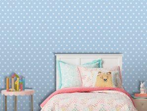 Πουά μοτίβο, Πριγκίπισσες! Παιδικά Ταπετσαρίες Τοίχου 100 x 100 cm