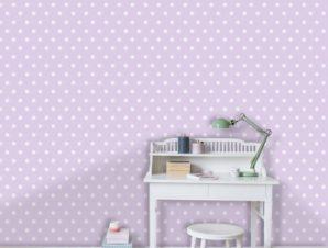 Μοβ πουά μοτίβο, Πριγκίπισσες! Παιδικά Ταπετσαρίες Τοίχου 100 x 100 cm