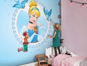 Princess Cinderella! Παιδικά Ταπετσαρίες Τοίχου 100 x 100 cm