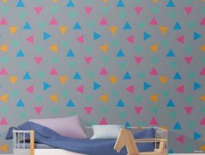 Πολύχρωμο μοτίβο με MIckey Mouse Παιδικά Ταπετσαρίες Τοίχου 100 x 100 cm