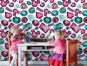 Διαμάντια, Μίνι Μάους! Παιδικά Ταπετσαρίες Τοίχου 100 x 100 cm