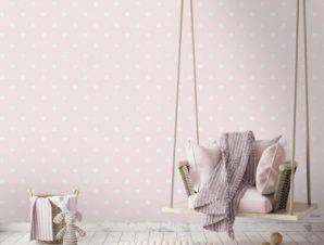 Pink, Minnie Mouse Παιδικά Ταπετσαρίες Τοίχου 100 x 100 cm