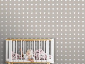Μοτίβο με αστέρια, Μίκυ Μάους! Παιδικά Ταπετσαρίες Τοίχου 100 x 100 cm