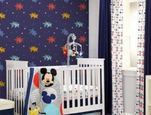 Αστεράκια, Mickey Mouse! Παιδικά Ταπετσαρίες Τοίχου 100 x 100 cm