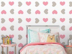 Καρδιές, Mickey Mouse! Παιδικά Ταπετσαρίες Τοίχου 100 x 100 cm