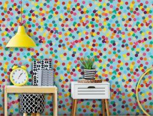 Polka dots, Mickey Mouse!! Παιδικά Ταπετσαρίες Τοίχου 100 x 100 cm