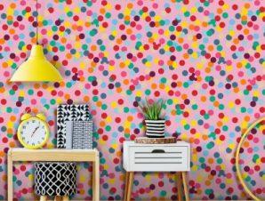 Χαρούμενο μοτίβο, Mickey Mouse! Παιδικά Ταπετσαρίες Τοίχου 100 x 100 cm