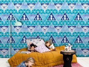 Frozen pattern! Παιδικά Ταπετσαρίες Τοίχου 100 x 100 cm
