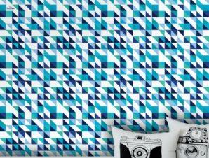 Blue and white pattern, Frozen Παιδικά Ταπετσαρίες Τοίχου 100 x 100 cm