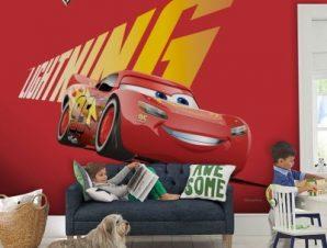 Lighting Mcqueen, Cars Παιδικά Ταπετσαρίες Τοίχου 100 x 100 cm