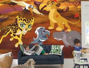 Η φρουρά των λιονταριών στη ζούγκλα, The Lion Guard Παιδικά Ταπετσαρίες Τοίχου 100 x 100 cm