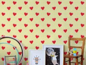 Καρδούλες, Mickey Παιδικά Ταπετσαρίες Τοίχου 100 x 100 cm