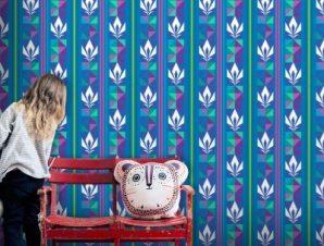 Μοτίβο από την Έλσα, Frozen Παιδικά Ταπετσαρίες Τοίχου 100 x 100 cm